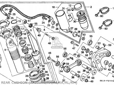 Honda Xr250r 1987 (h) General Export / Kph parts list