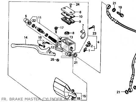 Honda XR250R 1987 (H) USA parts lists and schematics