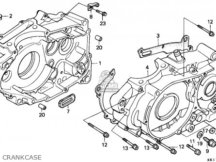 Honda Xr250r 1988 (j) Australia parts list partsmanual