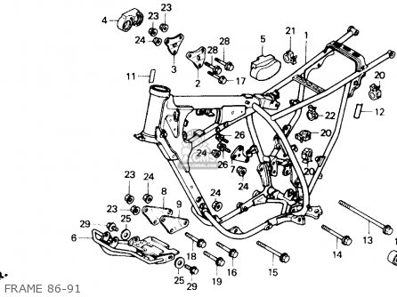 Honda Xr250r 1988 (j) Usa parts list partsmanual partsfiche