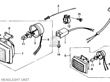 Honda XR250R 1988 (J) USA parts lists and schematics