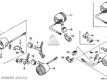 Honda Xr250r 1989 (k) Australia parts list partsmanual