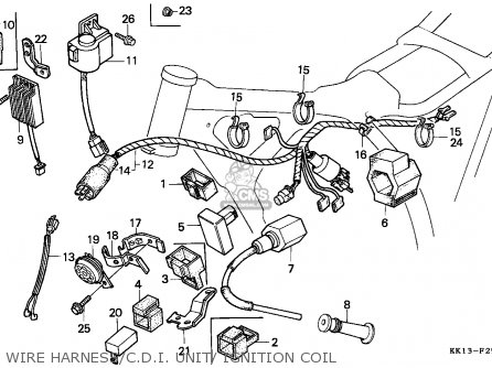 Honda XR250R 1989 (K) AUSTRALIA parts lists and schematics