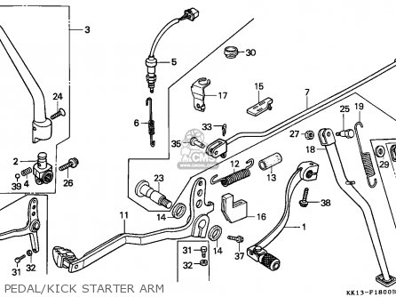 Honda Xr250r 1989 (k) Belgium parts list partsmanual