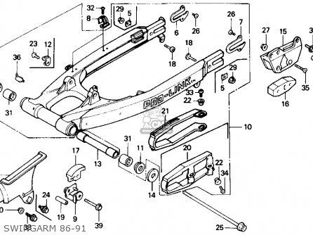 Honda Xr250r 1989 (k) Usa parts list partsmanual partsfiche