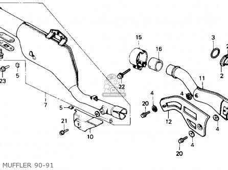 Honda XR250R 1990 (L) USA parts lists and schematics