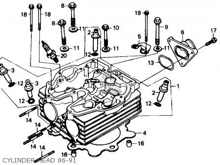 Honda Xr250r 1991 (m) Usa parts list partsmanual partsfiche