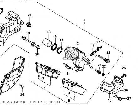 Honda XR250R 1991 (M) USA parts lists and schematics
