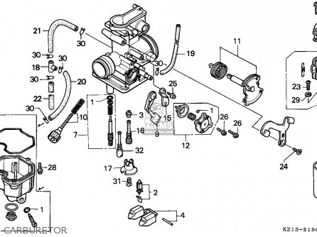 Honda Xr250r 1992 (n) Australia parts list partsmanual