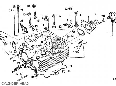 Honda Xr250r 1992 (n) Australia parts list partsmanual