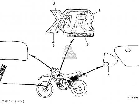 Honda Xr250r 1992 (n) Belgium parts list partsmanual