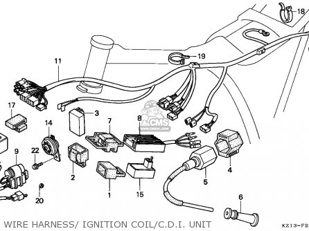 Honda Xr250r 1993 Australia parts list partsmanual partsfiche