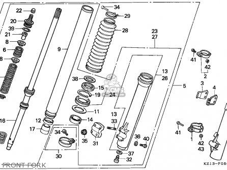 Honda XR250R 1993 (P) AUSTRALIA parts lists and schematics