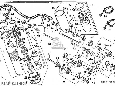 Honda XR250R 1993 (P) AUSTRALIA parts lists and schematics