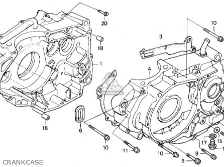 Honda Xr250r 1993 (p) Usa parts list partsmanual partsfiche