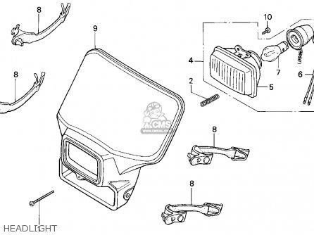 Honda XR250R 1993 (P) USA parts lists and schematics