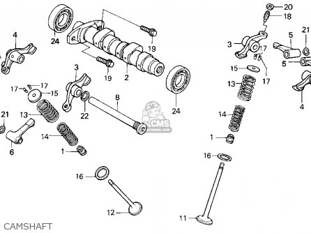 Honda Xr250r 1993 Usa parts list partsmanual partsfiche