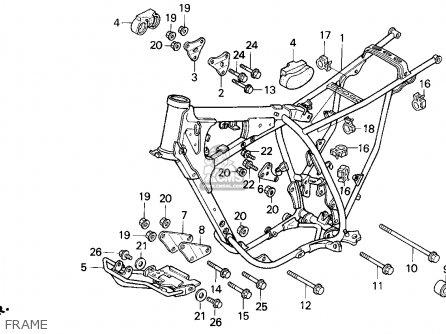 Honda Xr250r 1993 Usa parts list partsmanual partsfiche