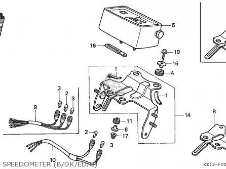 Honda Xr250r 1994 (r) Belgium parts list partsmanual