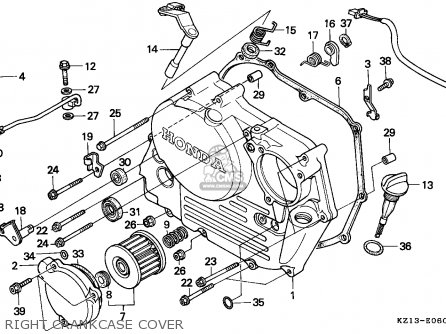 Honda XR250R 1994 (R) EUROPEAN DIRECT SALES parts lists