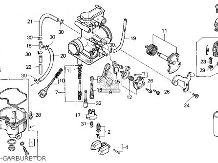 Honda XR250R 1994 (R) USA parts lists and schematics