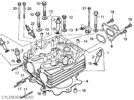 Honda Xr250r 1994 (r) Usa parts list partsmanual partsfiche