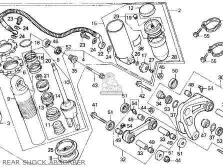 Honda Xr250r 1994 (r) Usa parts list partsmanual partsfiche
