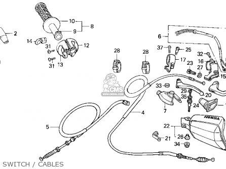 Honda XR250R 1994 (R) USA parts lists and schematics