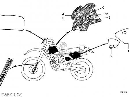 Honda Xr250r 1995 (s) General Export / Kph parts list
