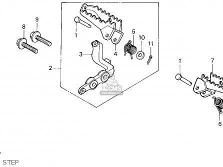 Honda XR250R 1995 (S) USA parts lists and schematics