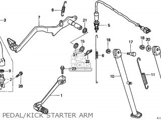 Honda XR250R 1997 (V) CANADA / REF parts lists and schematics