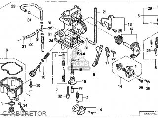 Honda Xr250r 1997 (v) Usa parts list partsmanual partsfiche
