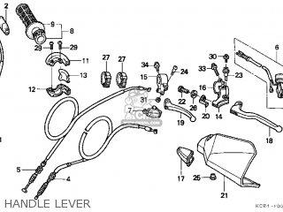 Honda Xr250r 1997 (v) Usa parts list partsmanual partsfiche