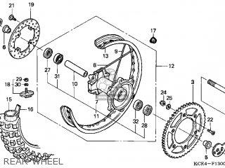 Honda XR250R 1997 (V) USA parts lists and schematics