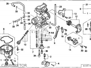 Honda Xr250r 1998 Australia / Mk parts list partsmanual