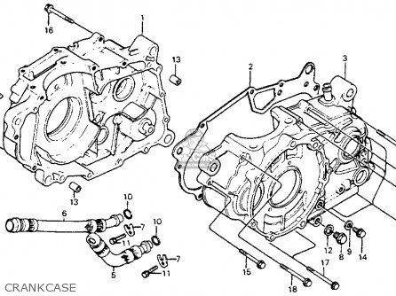 Honda Xr350r 1983 (d) Usa parts list partsmanual partsfiche