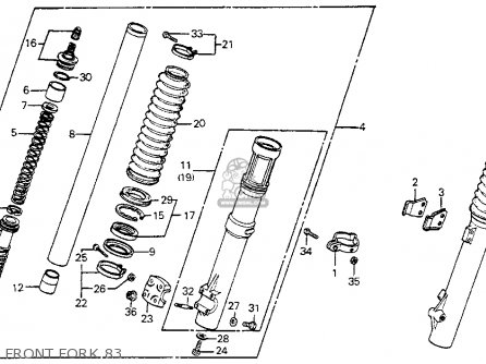 Honda Xr350r 1983 (d) Usa parts list partsmanual partsfiche