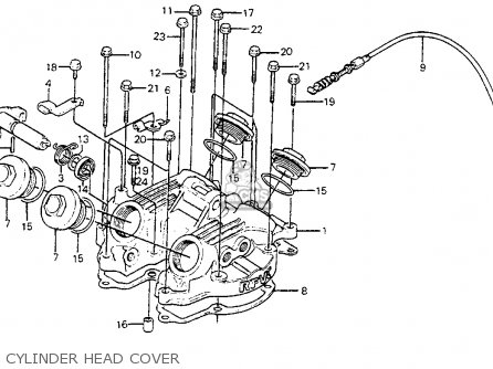 Honda Xr350r 1983 Usa parts list partsmanual partsfiche