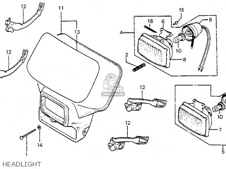 Honda XR350R 1984 (E) USA parts lists and schematics