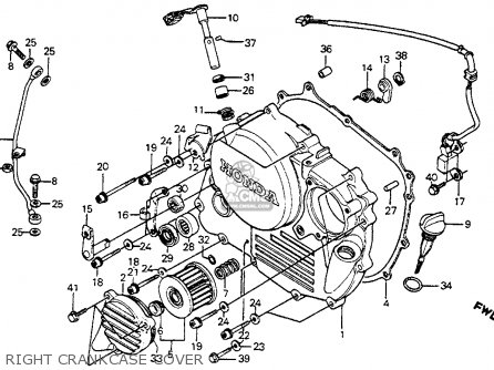 Honda XR350R 1984 (E) USA parts lists and schematics