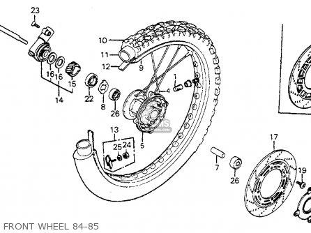 Honda Xr350r 1984 Usa parts list partsmanual partsfiche