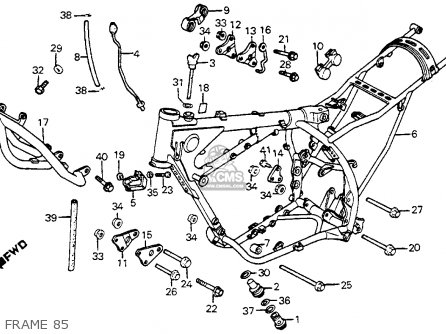 Honda Xr350r 1985 (f) Usa parts list partsmanual partsfiche