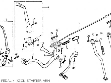Honda XR350R 1985 (F) USA parts lists and schematics
