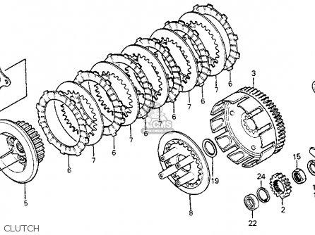 Honda Xr350r 1985 Usa parts list partsmanual partsfiche
