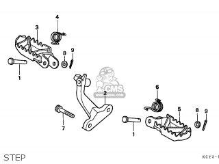 Honda XR400R 1997 (V) AUSTRALIA parts lists and schematics