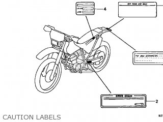Honda XR400R 1998 (W) USA parts lists and schematics