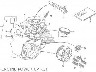 Honda Xr400r Hrc Engine Power Up Kit 1996 (t) parts list