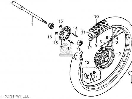 Honda Xr500 1979 Usa parts list partsmanual partsfiche