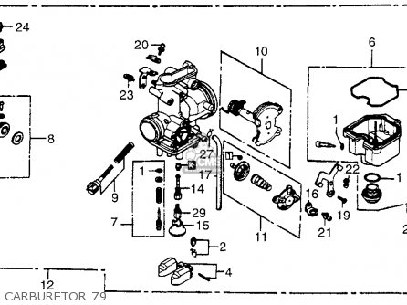 Honda XR500 1979 (Z) USA parts lists and schematics