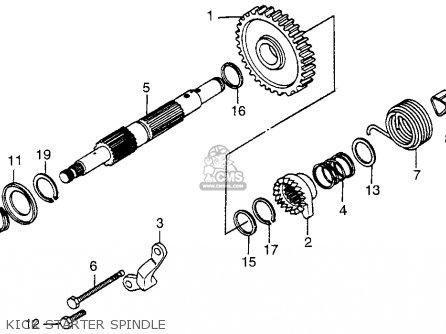 Honda Xr500 1980 (a) Usa parts list partsmanual partsfiche